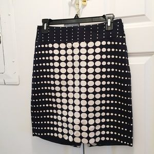 The Limited Pencil Skirt Dotted Black White Size 0